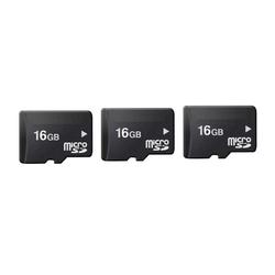 Bộ 3 thẻ nhớ Micro Memory Card SD 16GB Đen