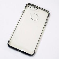 Ốp lưng dẻo iPhone 7 Plus mẫu đơn giản đen - HỘP 2 CÁI