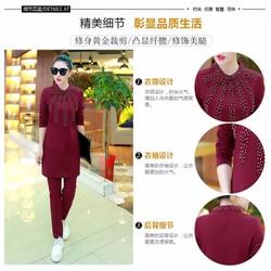 Set thời trang cổ đính cườm hàng Quảng Châu