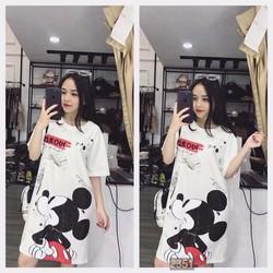 Đầm thun suông Mickey