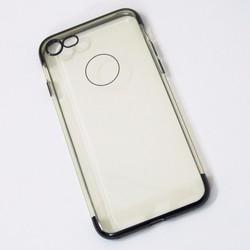 Ốp lưng dẻo iPhone 7 mẫu đơn giản đen - HỘP 2 CÁI