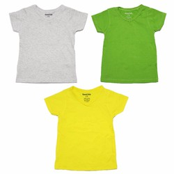 Bộ 3 áo thun cổ tim nhiều màu