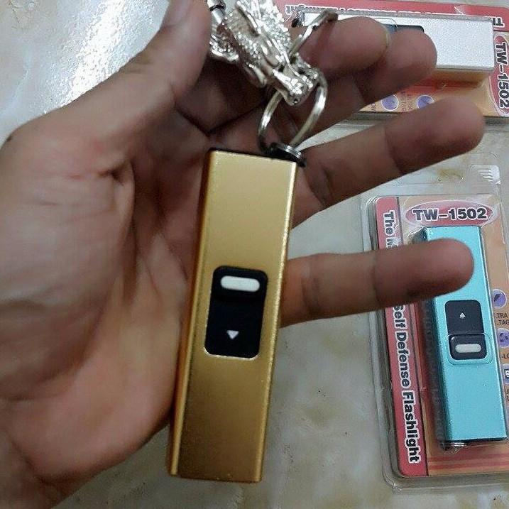 Móc khóa - Móc khóa tự vệ chích điện - Đèn pin 3