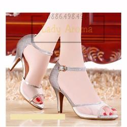 Giày cao gót lưới kim sa sang trọng Lady-CG882