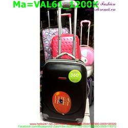 Valy kéo du lịch bằng chất liệu nhựa cao cấp màu đen VAL61 View