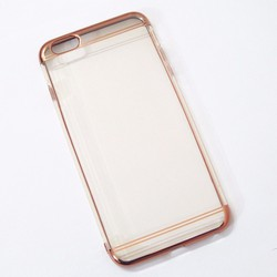 Ốp lưng dẻo iPhone 6 Plus mẫu đơn giản hồng - HỘP 2 CÁI