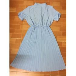 váy xếp ly màu xanh ngọc