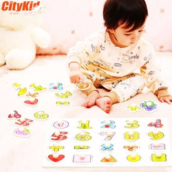 Đồ chơi gỗ cho bé Puzzle Kid A-100 Bảng chữ số từ 1 đến 20