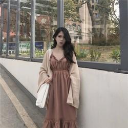 Đầm maxi dây bèo tiểu thư siu iu