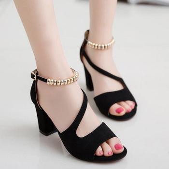 Giày co gót hở mũi xinh xắn