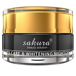 Sakura spot care and Whitening night cream
