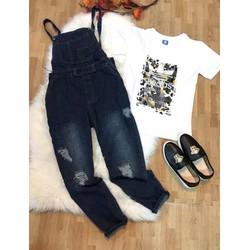 quần yếm jean rách