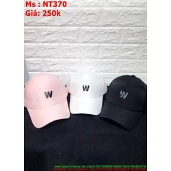 Nón lưỡi trai nam nữ chữ W logo sành điệu trẻ trung NT370