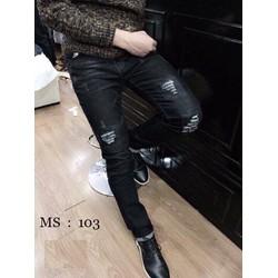 Quần Jean rách 2 bên phong cách korea