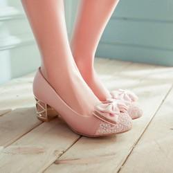 Giày đế xuồng đính nơ xinh xắn Lady-G1009