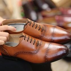 Giày da công sở nam màu nâu