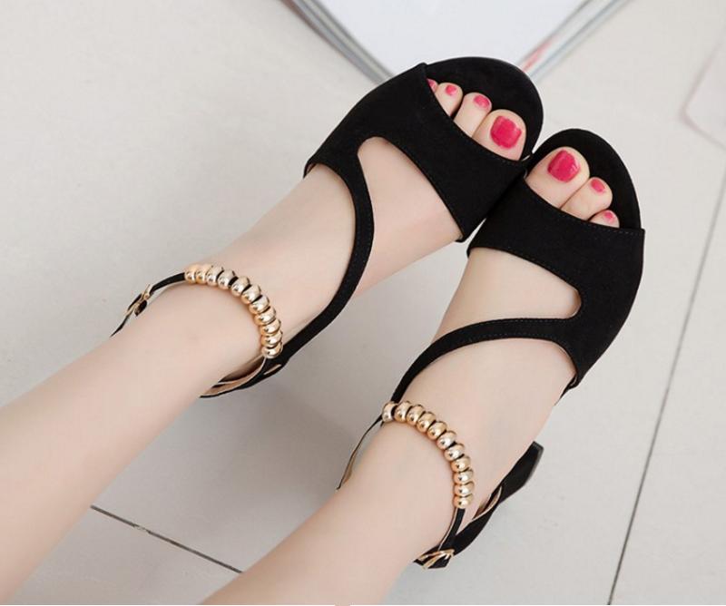 Giày co gót hở mũi xinh xắn 4