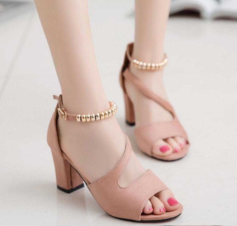 Giày co gót hở mũi xinh xắn 13