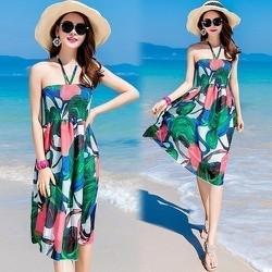 Đầm Hoa Đi Biển Thời Trang