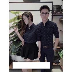 ÁO SƠ MI COUPLE CHẤM BI SÀNH ĐIỆU