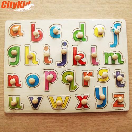 Đồ chơi gỗ cho bé Puzzle Kid A-103: Bảng chữ cái in thường