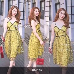 Đầm hoa ren siêu xinh