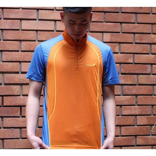 Áo phông thể thao nam cổ trụ màu cam