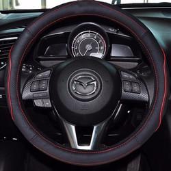 Bao tay lái ô tô, bọc da vô lăng đen đỏ size M phù hợp các loại xe
