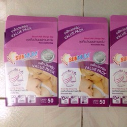 Túi trữ sữa sunmum hộp 50 túi