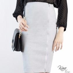 Karadesign.vn_ Chân váy bút chì phối dây kéo