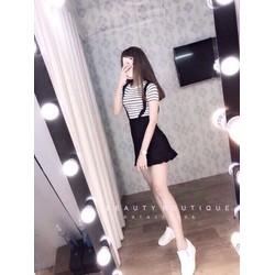 Set váy ôm bèo áo thun _MÕ CHU SHOP