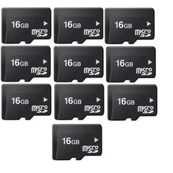 Bộ 10 thẻ nhớ Micro Memory Card SD 16GB Đen