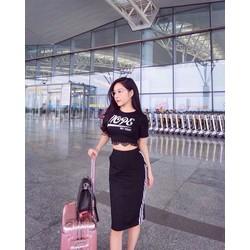 Set áo phối ren + váy ôm - A29938