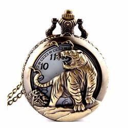 Dây chuyền mặt đồng hồ hình Hổ