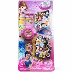 Vỉ đồ chơi đồng hồ công chúa Disney chiếu hình ảnh lên tường