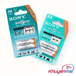 Combo 2 Cặp Pin AAA và AA Sony. Sạc Đựoc