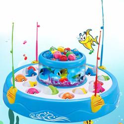 Bộ đồ chơi câu cá nghe nhạc 2 tầng 4 cần câu thông minh