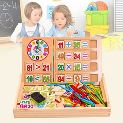 Bảng học toán bằng gỗ 2 chữ số cho bé