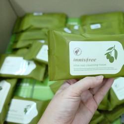 Khăn Giấy Tẩy Trang Olive Real Cleansing Tissu