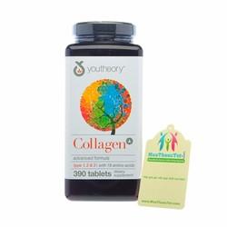 Viên uống Collagen Youtheory Advanced Type 1 2 và 3 với 18 amino acid