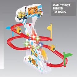 Bộ cầu trượt + thang cuốn tự động hình Cún