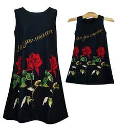 Đầm mẹ và bé họa tiết hoa