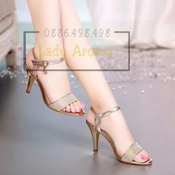 Giày công sở khóa đá đính kim tuyến Lady-CG87