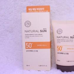 KEM CHỐNG NẮNG NATURAL SUN ECO SUPER PERFECT SPF50 PA+++