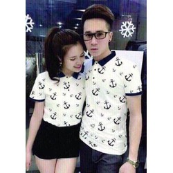ÁO THUN COUPLE MỎ NEO CỰC SANG