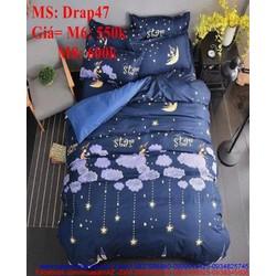 Bộ dra giường họa tiết bầu trời đêm lung linh Drap47