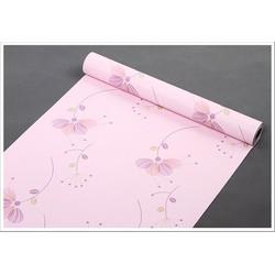 Decal giấy dán tường nhánh cây hồng