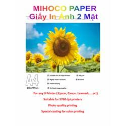 Giấy in ảnh 2 Mặt MIHOCO PAPER khổ A4, định lượng 160gsm