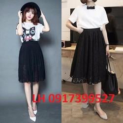 Chân váy xòe thời trang Hàn Quốc mới R163099