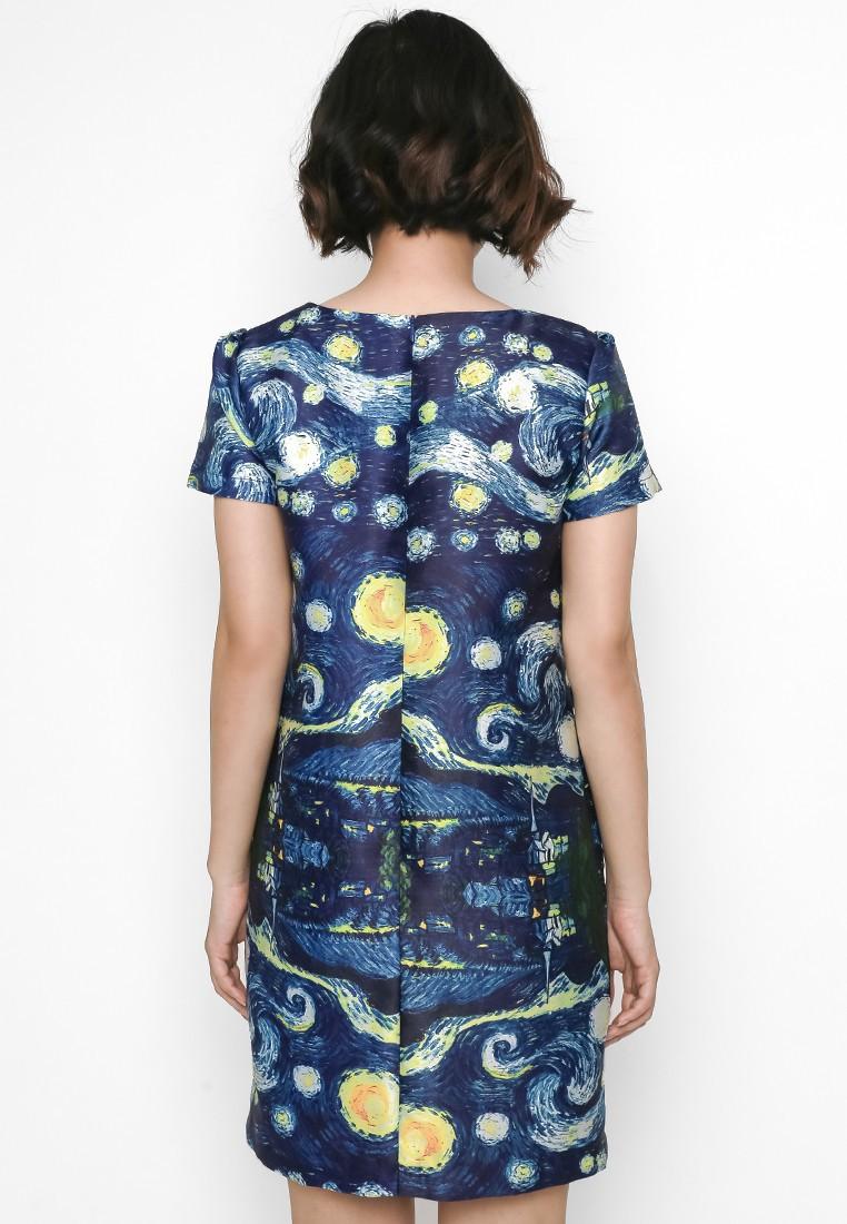 Đầm suông thiết kế hoạ tiết Vangoh 4